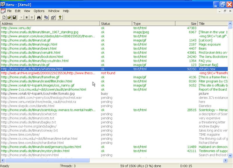 Xenu-screenshot-zoeken-naar-gebroken-links