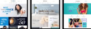 Bij Vicus keuze uit meer dan 600 Magento webshops templates