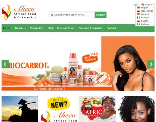 Aheco-Webshop-home_scherm