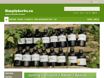 Simply-Herbs-Homepage