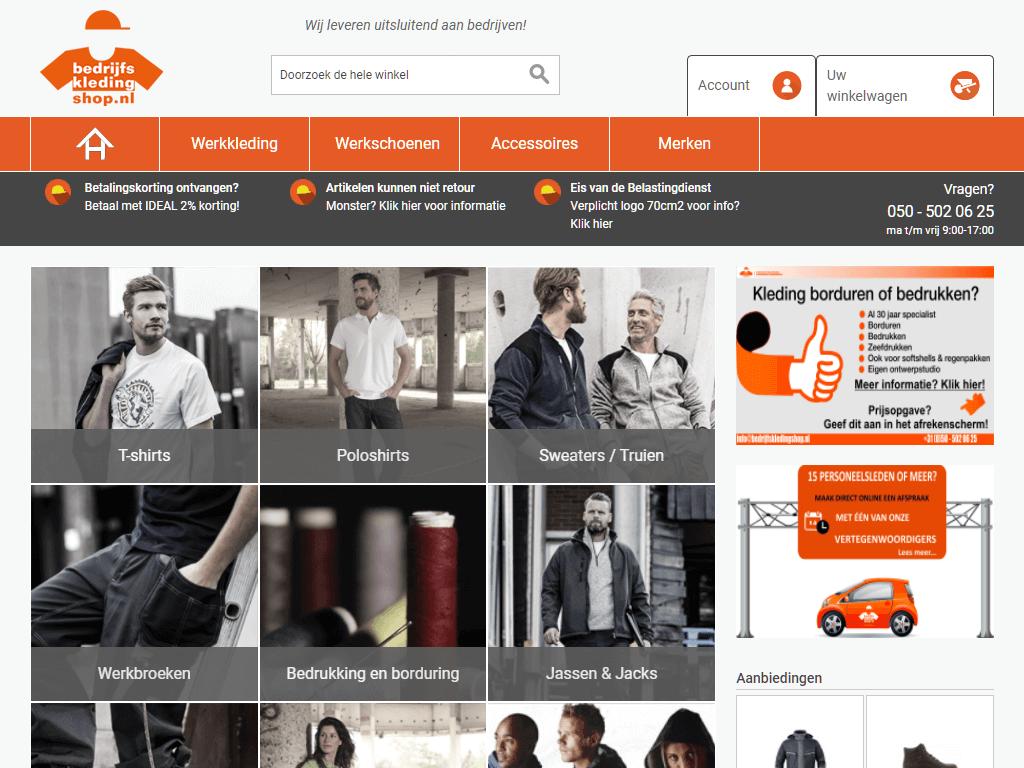 Bedrijfskledingshop-home_screenshot