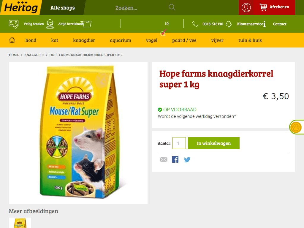 Hertog-Diervoeders-knaagdierkorrel