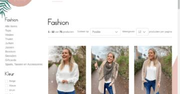 Schermprint van de Fashion hoofdcategorie