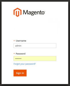 Magento 2 login