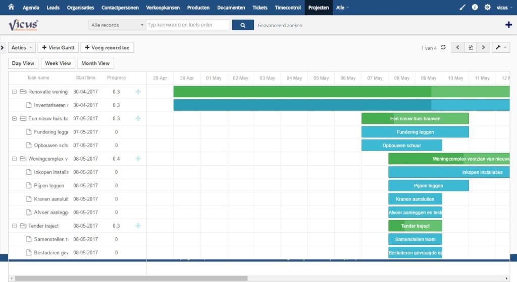 Gannt Chart - Project Management